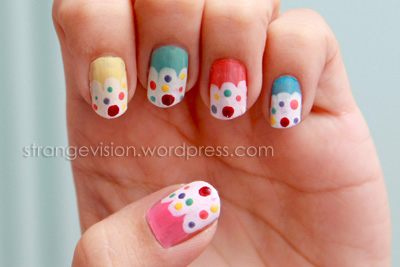 Nail Art Cupcakes What I Have Shown You Is Reality